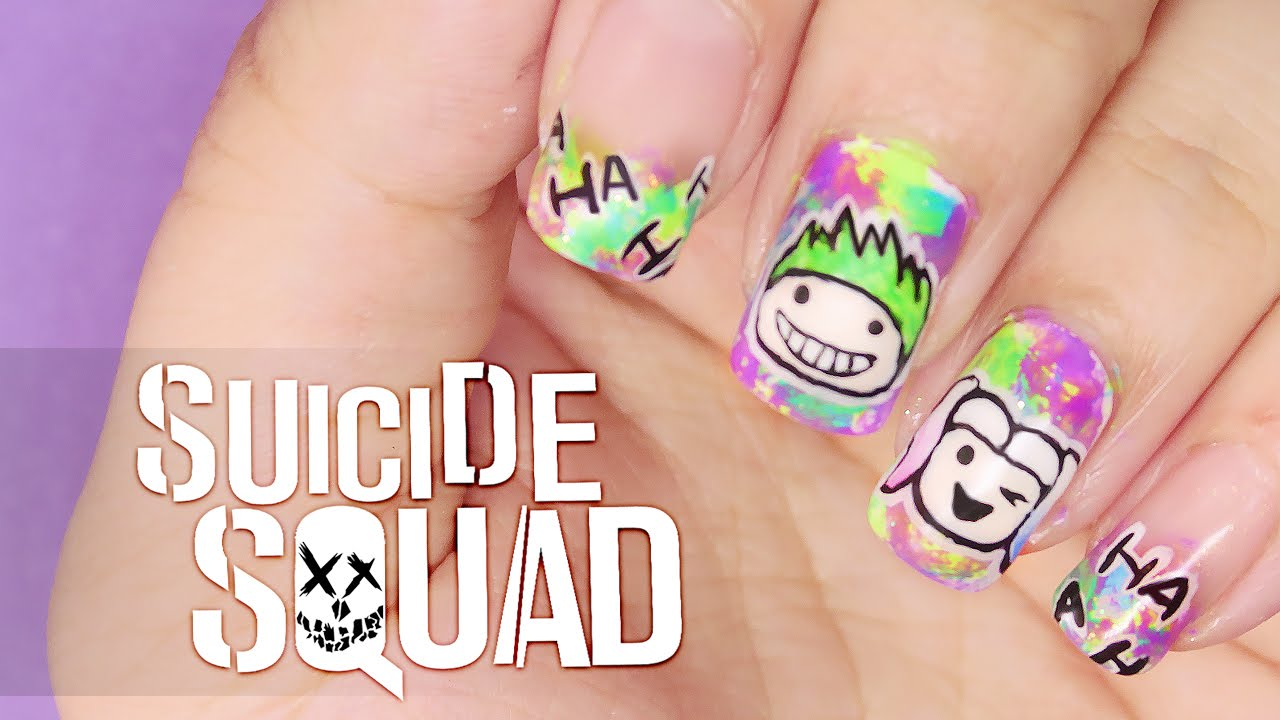 Harley Quinn Nail Art Suicide Squad
