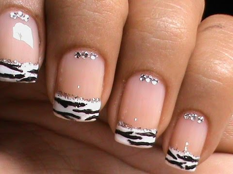 Nail Art In Different Style Of French Manicure Youtube