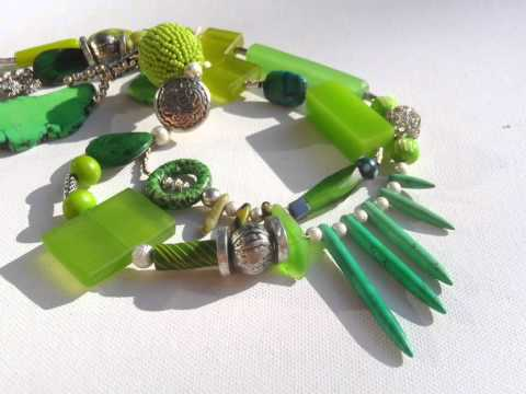 Unique Designer Jewellery LIME & MOJITO contemporary necklace