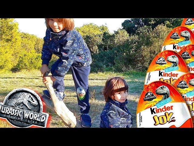 Desafio DANI y EVAN Huevos de dinosaurios JURASSIC WORLD KINDER JOY