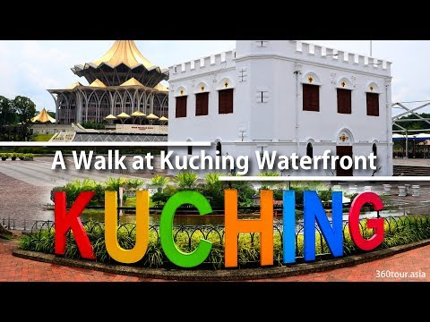 A walk at Kuching Waterfront