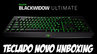 Meu novo teclado, Unboxing Razer Blackwidow Ultimate