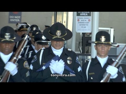 U.S. Honor Flag Arrives at LAX for Fallen Covina Police Offi