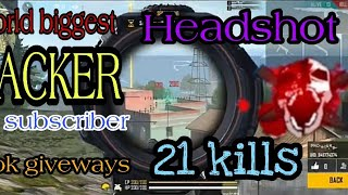 World biggest headshot HACKER in ranked game play /1k subscriber spl alok character giveways