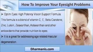 Natural Eye Supplements Help To Improve Weak Eyesight Safely.