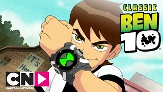Classic Ben 10  \Преследван\ (пълен епизод)  Cartoon Network