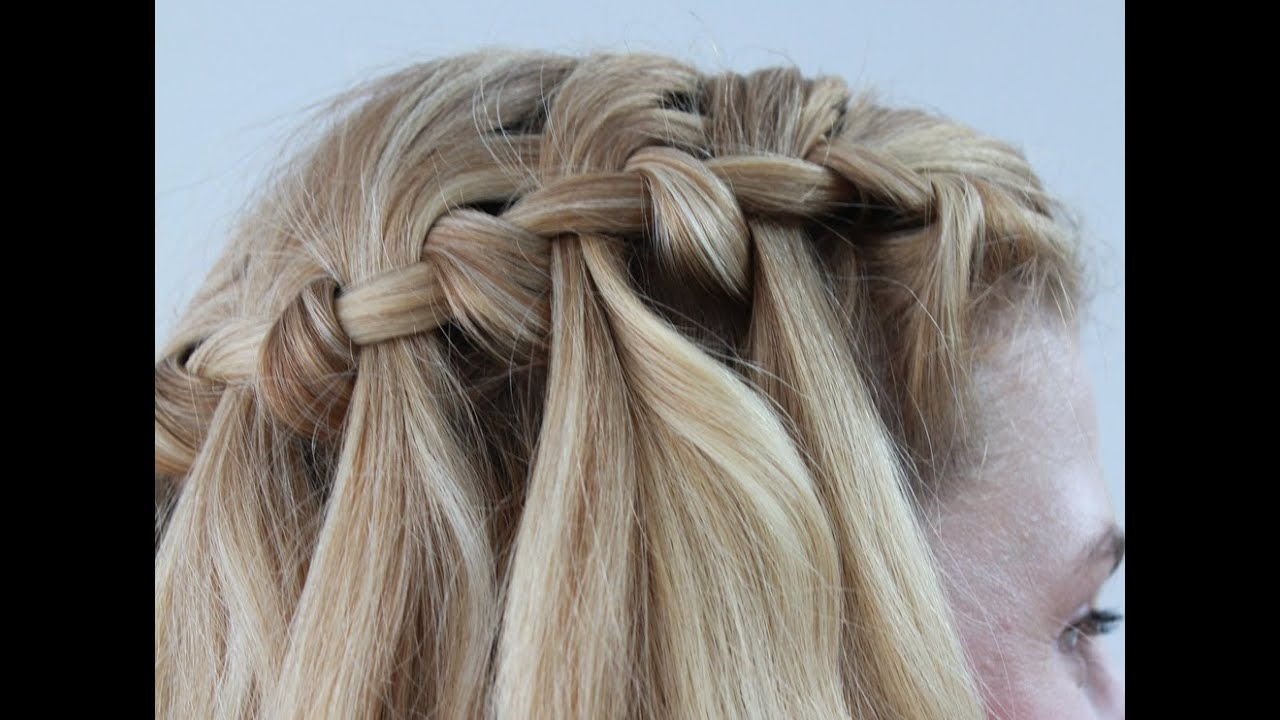 hair style water fall easy waterfall braid tutorial 3839