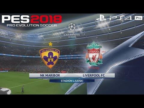 PES 2018 (PS4 Pro) NK Maribor v Liverpool UEFA CHAMPIONS LEAGUE 17/10/2017 PREDICTION 1080P 60FPS