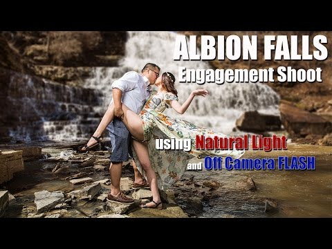 Albion Falls Engagement Shoot using Natural Light and Off Camera Flash