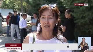 В Алматы родители  спортсменов,  оставшихся без грантов на обучение,   устроили протест