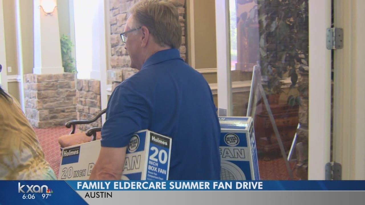 Kxan Volunteers To Help Out Family Eldercare Summer Fan