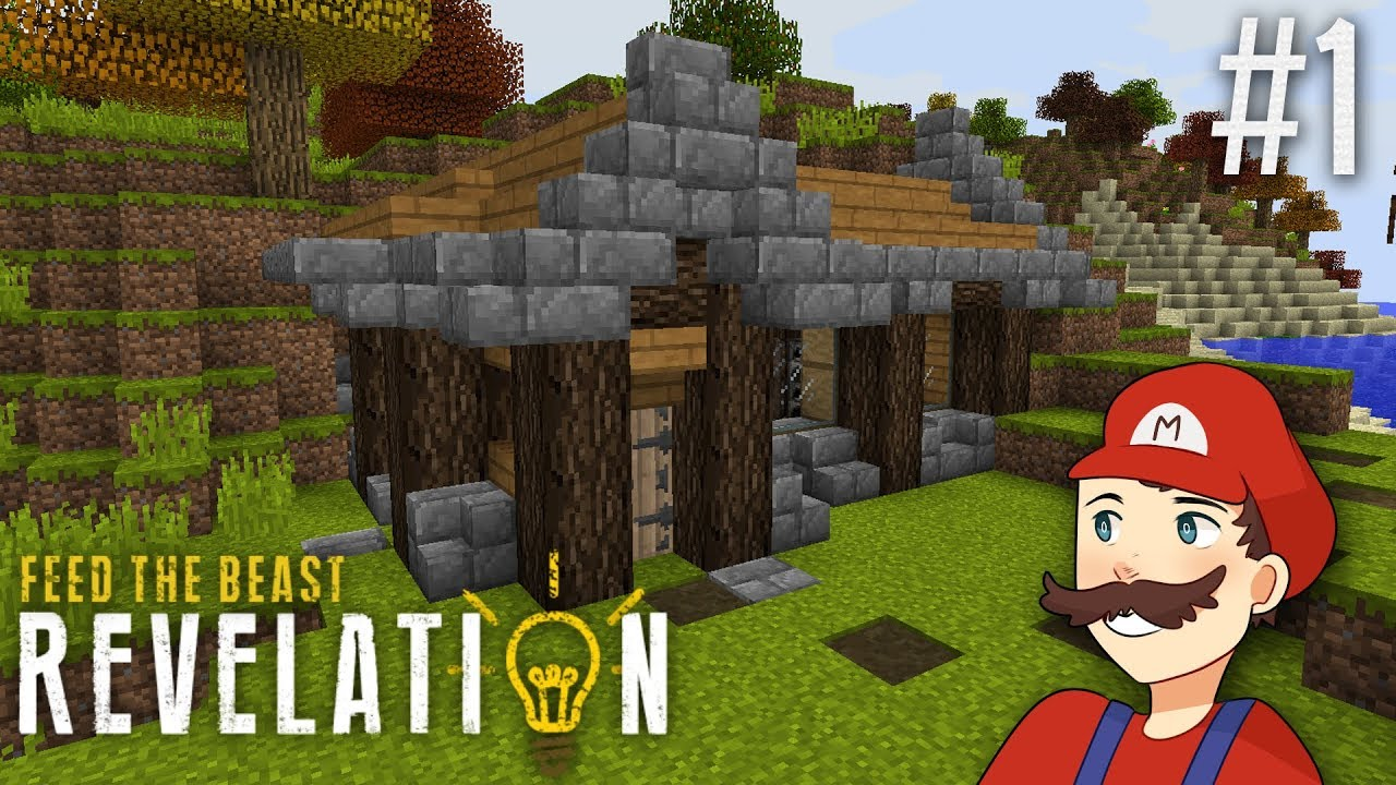 Minecraft FTB Revelation SMP #1: Autumn House + Machines!