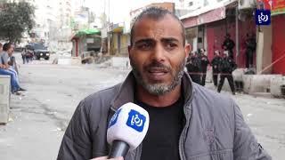 الاحتلالُ يَهدِمُ منشآتٍ تجاريةً مملوكةً لفلسطينيينَ في مخيمِ شُعفاط - (21-11-2018)