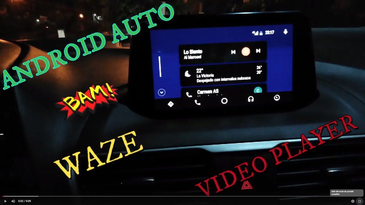 Como instalar android auto en tu auto _ Mazda Connect 2019 Video Player,  Waze