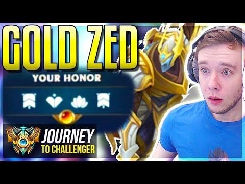 GOLDEN ZED GOLDEN ZED GOLDEN ZED GOLDEN ZED - Journey To Challenger  League of Legends