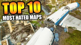 """Top 10 """"MOST HATED MAPS"""" in COD HISTORY (Top Ten) Call of Duty   Chaos"""