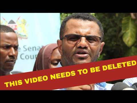 HASSAN OMAR WANTS THE VIDEO DELETED IMMEDIATELY | KENYA NEWS