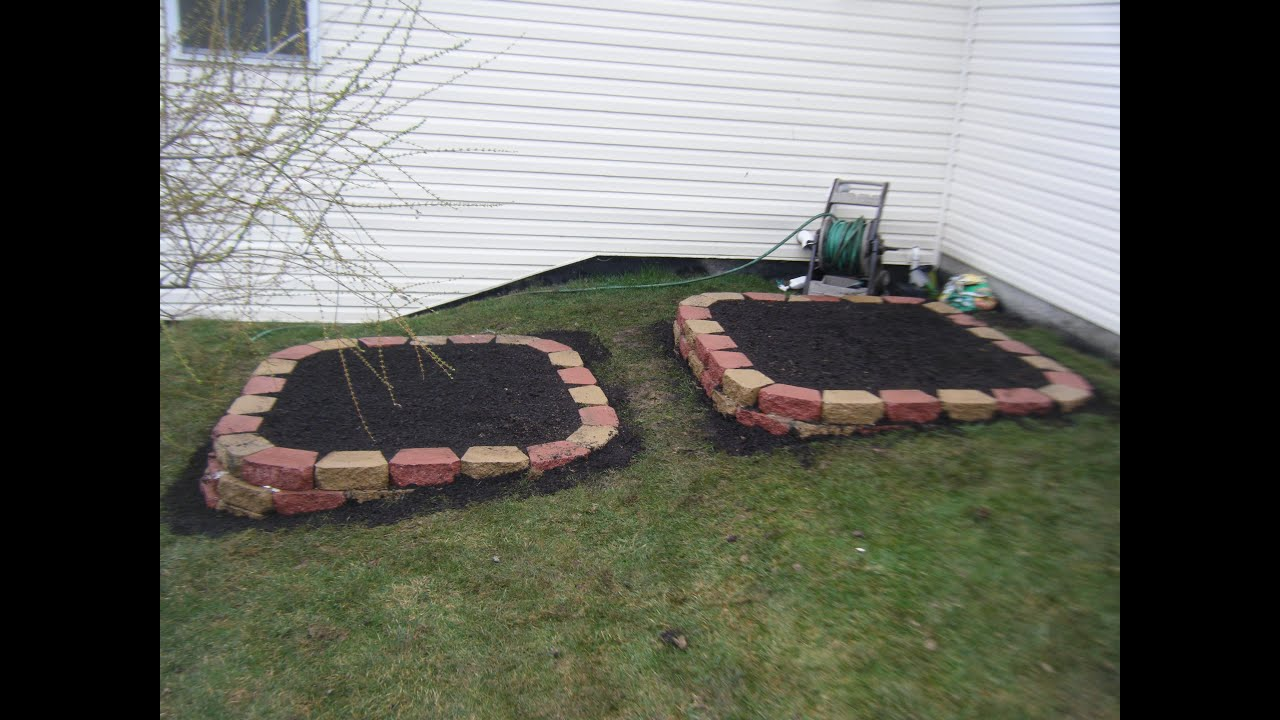 A Raised Garden Bed Retaining Wall Project   YouTube