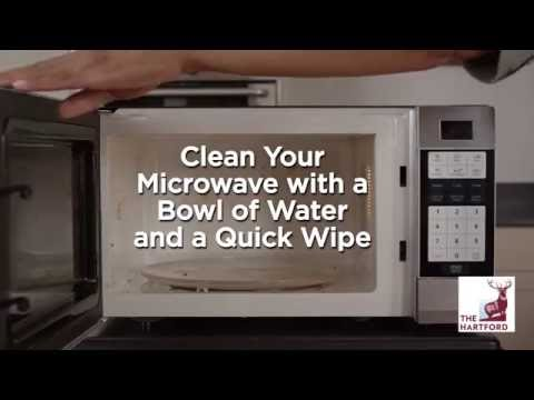 clean your microwave with water the hartford extra mile diy