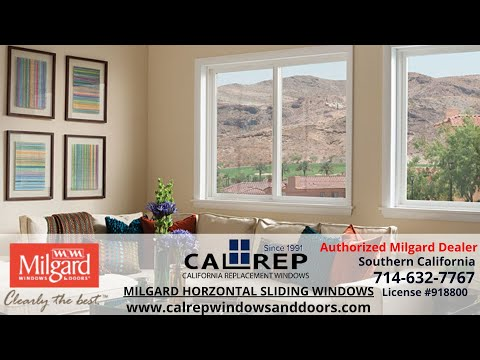 Milgard Horizontal Slider Window - California Replacement Windows 714-632-7767 Orange County
