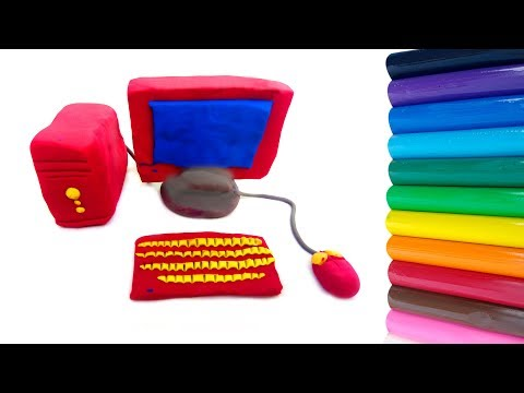 COMPUTER Making With Clay | Clay Computer | Clay Toys Making | 2019 | Clay Play
