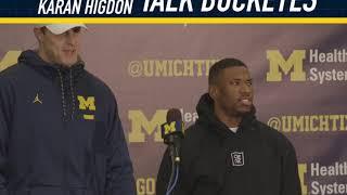 Michigan Football TE Zach Gentry and RB Karan Higdon Talk Buckeyes