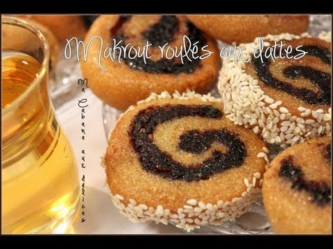recette makrout tunisien roules aux dattes gateau aux dattes et miel pour le ramadan youtube. Black Bedroom Furniture Sets. Home Design Ideas
