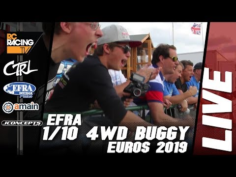 EFRA 1/10th 4WD Off Road Euros - Friday Qualifying - Live