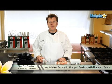 How to Make Prosciutto Wrapped Scallops with Romesco Sauce ...