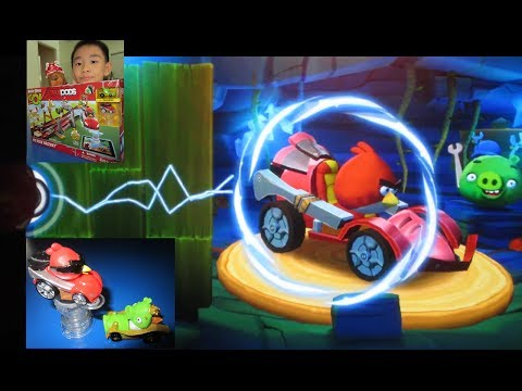 Angry Birds GO! Telepods Pig Rock Raceway - Teleport Karts into the App - Unlock Super Roaster Code