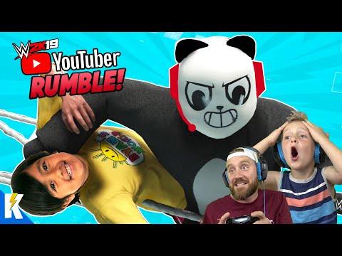 Youtubers Royal Rumble 2 In WWE 2k19 (RYAN TOYSREVIEW And COMBO PANDA) | KIDCITY GAMING
