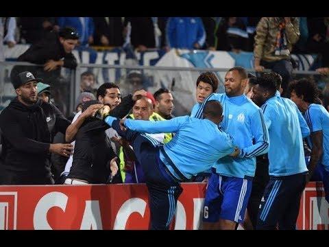 C3 Guimaraes - OM Evra Evra kicking a Marseille fan