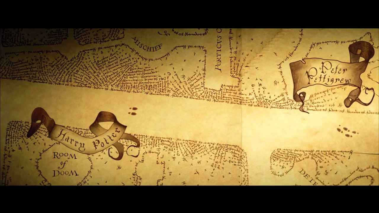 Mapa Do Maroto Marauder S Map Harry Potter The Prisoner Of