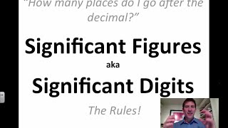 Significant Figures & Significant Digits: The Rules!