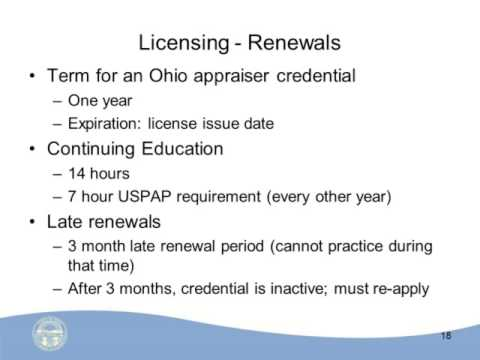 Ohio Specific Supervisory Appraiser and Trainee Course