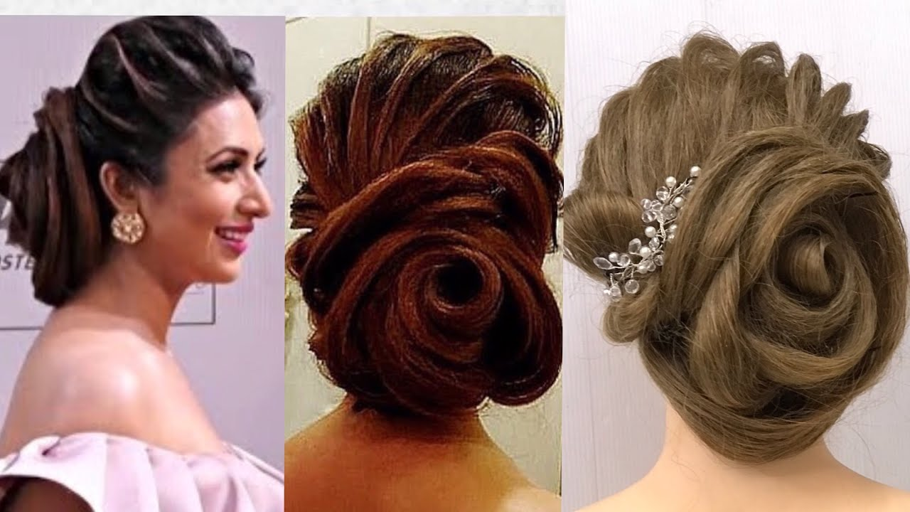 Beautiful Rose Bun Hairstyle : Red Carpet Hairstyles - YouTube