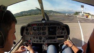 Décollage de l'aéroport Cannes Mandelieu (LFMD) et atterrissage à Yverdon aérodrome (LSGY)