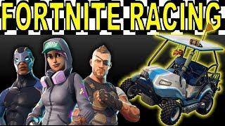 FORTNITE RACE TRACK W/All Terrain Kart + Mario Kart Theme Music (Season 5)