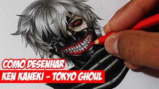 Como desenhar o Kaneki de Tokyo Ghoul (How to draw Ken Kaneki)