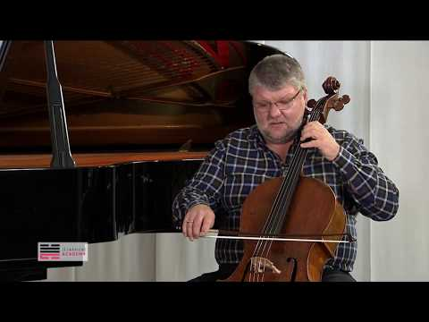 DMITRY YABLONSKY - Popper High School of Cello Playing Etudes 1,6 (Masterclass)