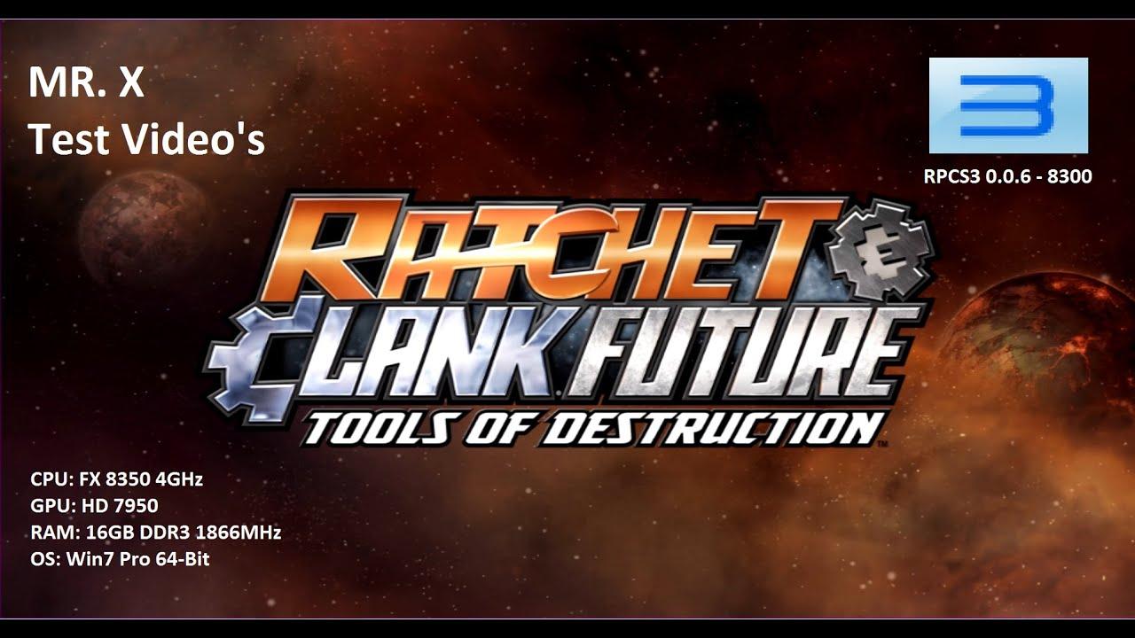 (RPCS3 0 0 6 - 8300 - 1641be5e Alpha) Ratchet & Clank: Tools of Destruction  (Ingame) - Test Video