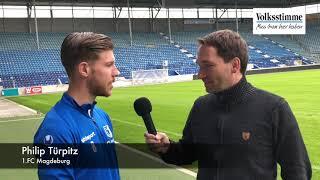 FCM: Philip Türpitz vor dem Spiel gegen Holstein Kiel
