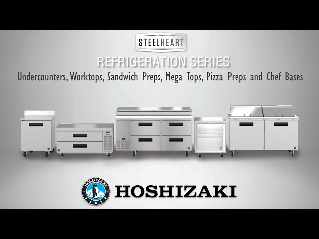 COOL SOLUTIONS: HOSHIZAKI Refrigerated Prep Tables, Worktops, and Undercounters | Steelheart Series