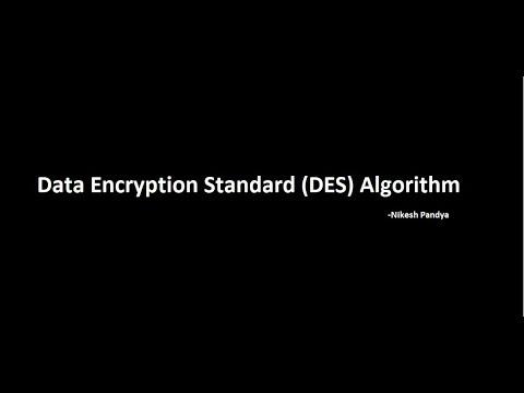 Data Encryption Standard DES Algorithm