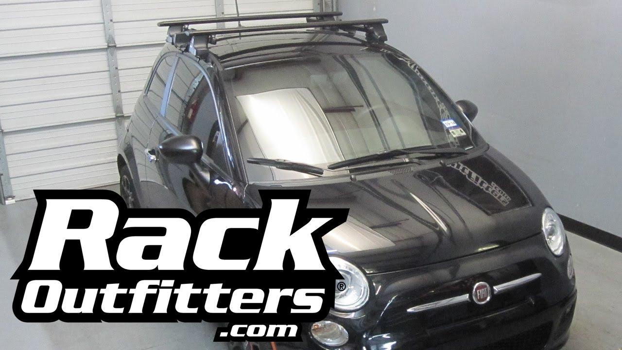 Fiat 500 Thule Rapid Traverse BLACK AeroBlade Roof Rack U002711 U002714* By Rack  Outfitters   YouTube