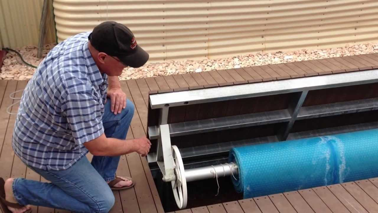 DIY Underground Swimming Pool Cover Holder. Explanation Video.