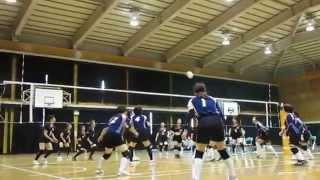 2014・6・8 青葉校区 土井団地1区2区 Aコート 対八田 2セット...