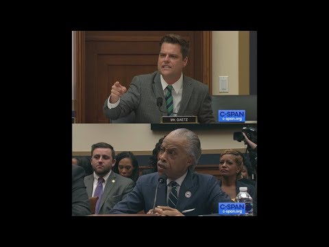 Exchange between Rep. Matt Gaetz and Reverend Al Sharpton