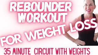 REBOUNDING WORKOUT FOR WEIGHT LOSS | REBOUNDER CIRCUIT STYLE | MINI TRAMPOLINE | REBOUNDER EXERCISES
