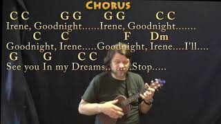 Goodnight, Irene (Traditional) Ukulele Cover Lesson in C with Chords/Lyrics